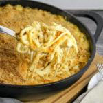 pasta in a casserole dish