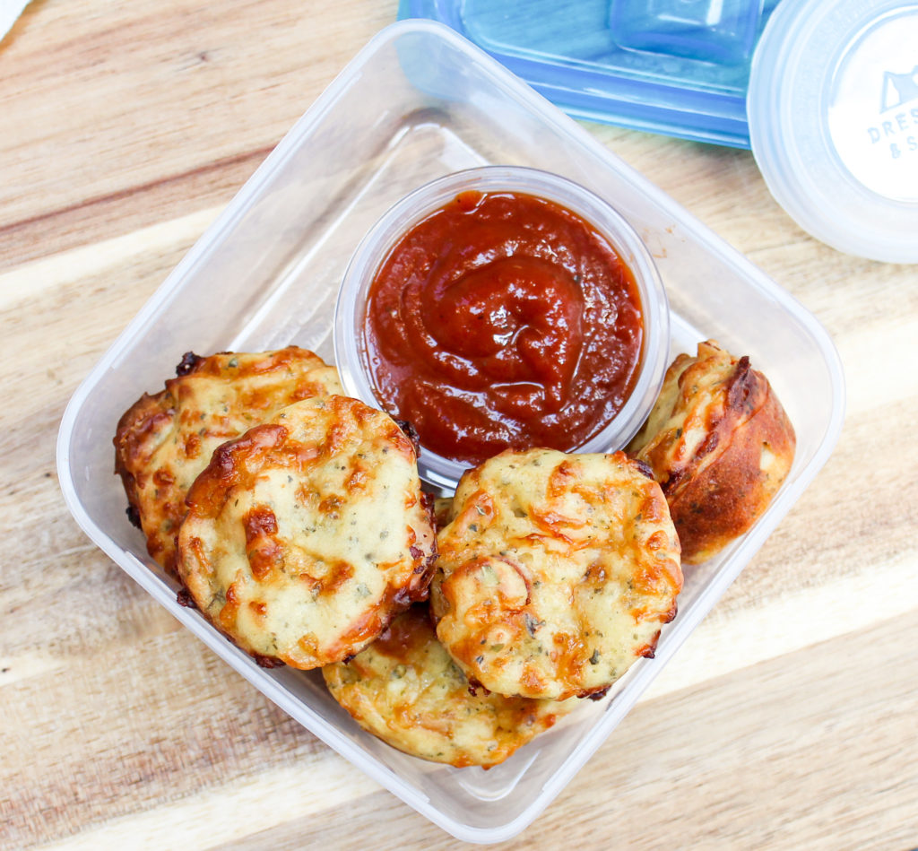 pizza muffins for a lunchbox