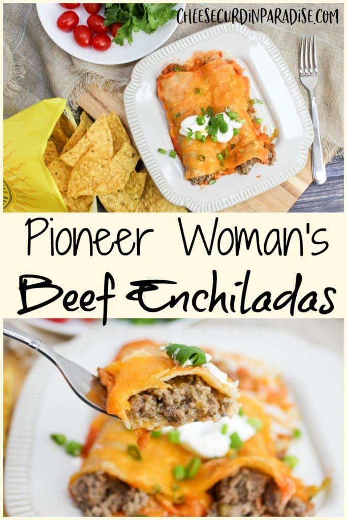 enchiladas on a plate with fork