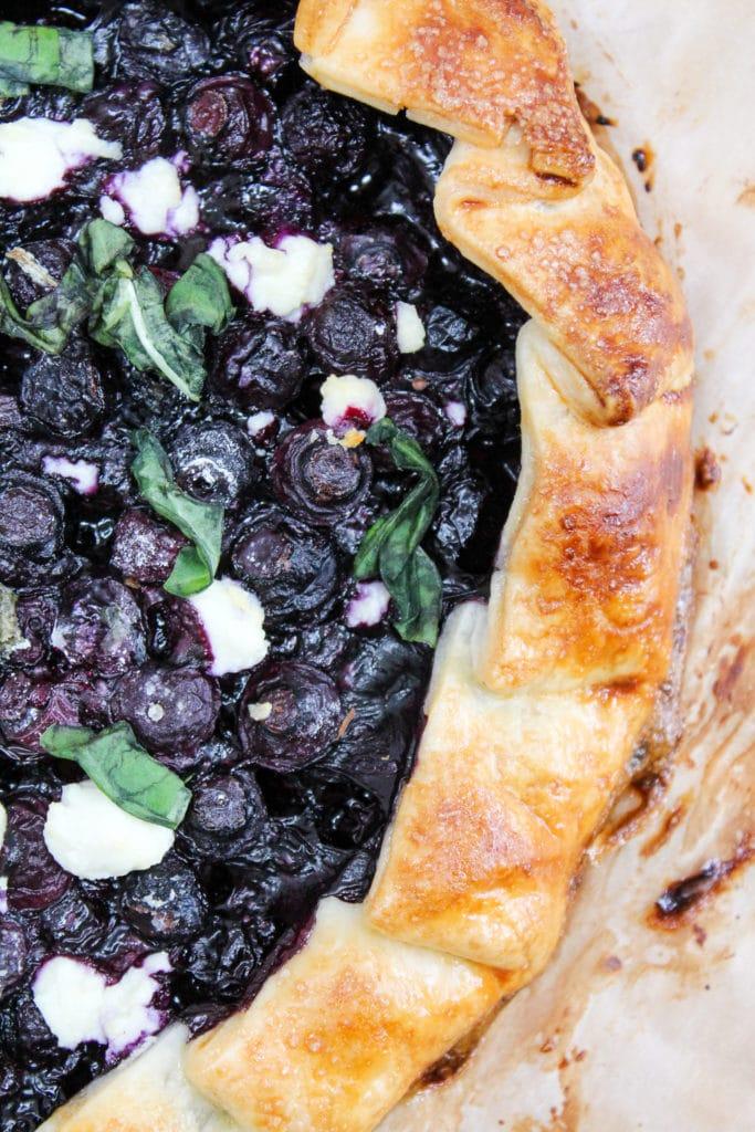 blueberry galette closeup