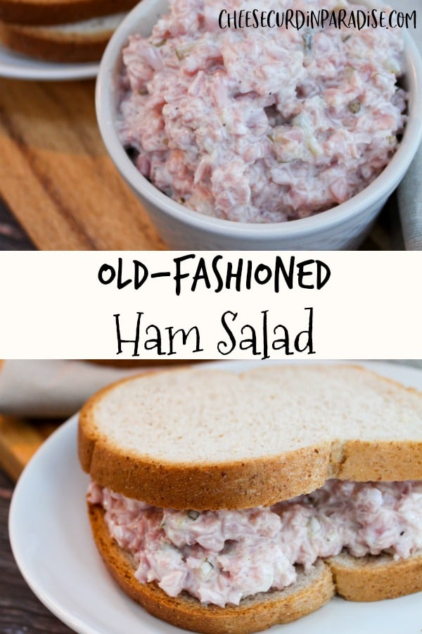ham salad on bread
