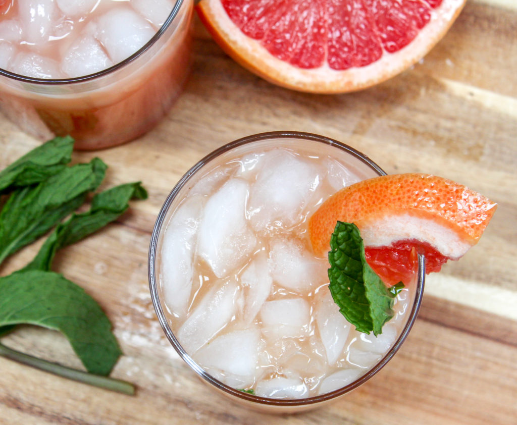 grapefruit drink in a glass