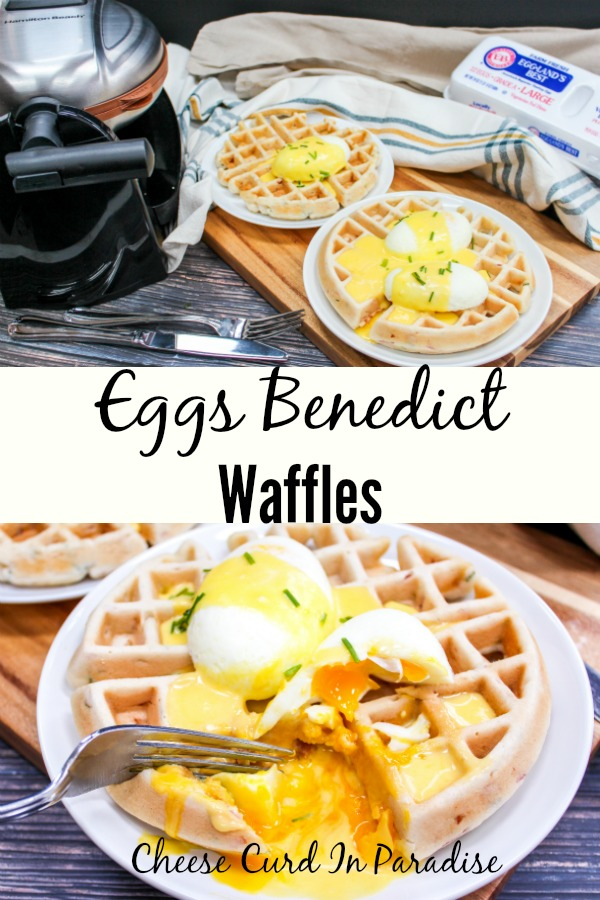 eggs on a plate with waffles