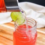Agua Fresca Poured into a glass