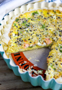 Quiche in a pan