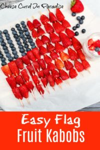 fruit flag kabobs on a plate
