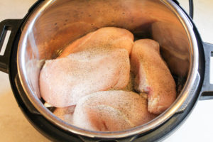raw chicken in the instant pot