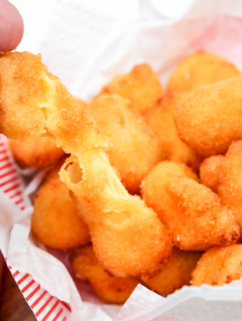 cheese curd in a basket