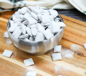 puppy chow in a bowl