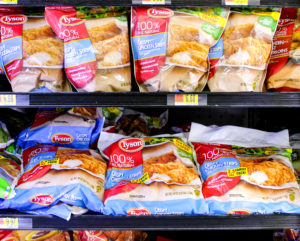 chicken strips at the store on a shelf