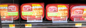 turkey meat at the store on a shelf