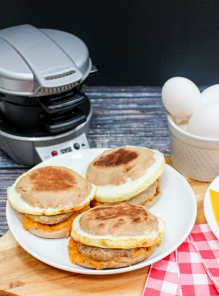 breakfast sandwiches on a plate