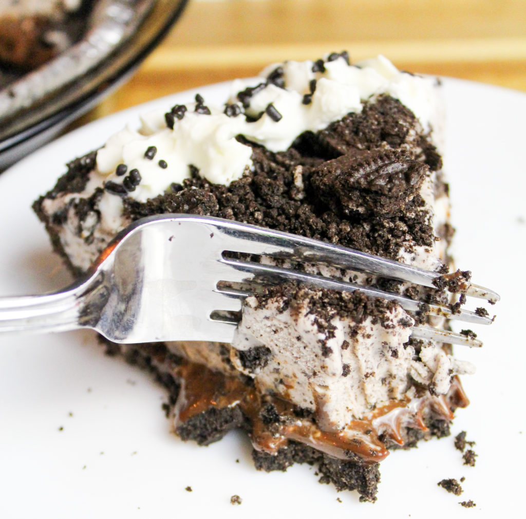 oreo pie in the pie pan