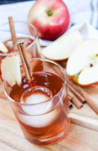 apple cider old fashion in a glass