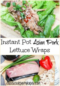 asian pork wrap and ingredients