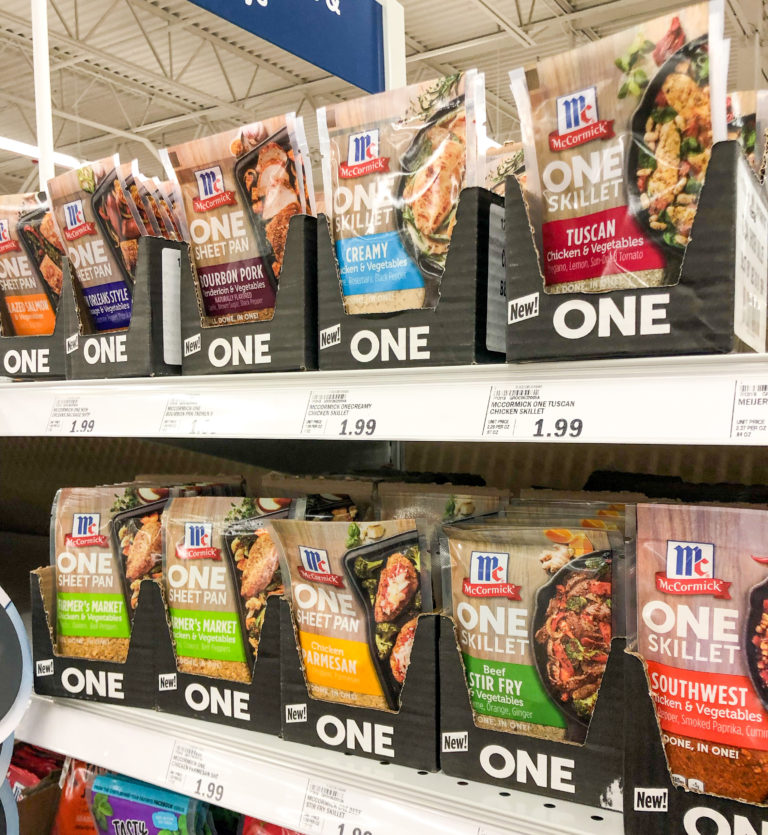 seasoning packets at the store