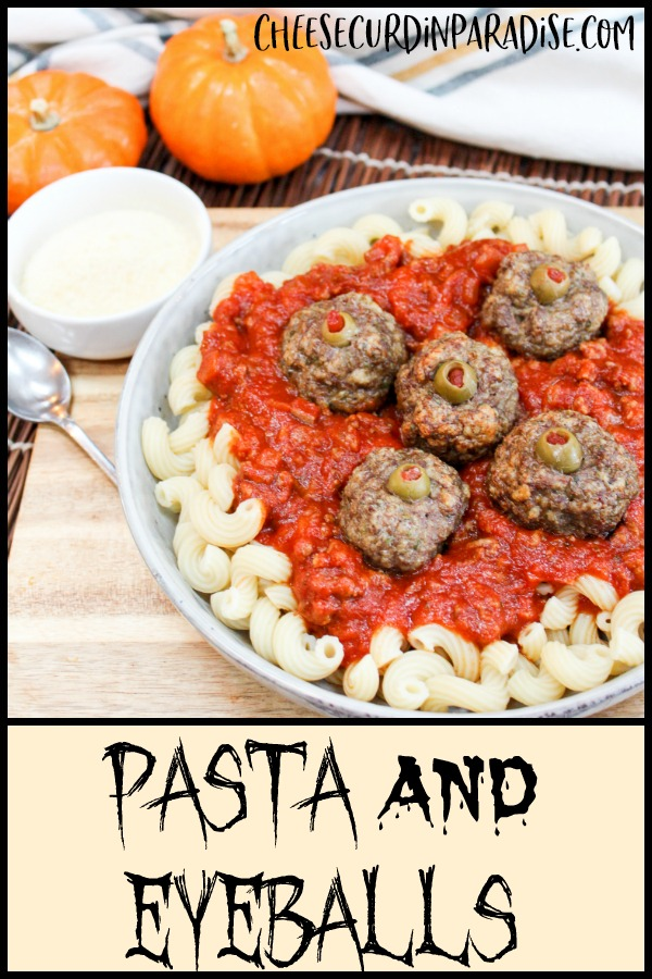 pasta and meatballs on a plate