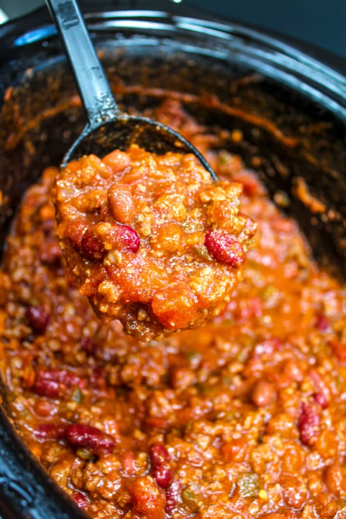 chili in a slowcooker