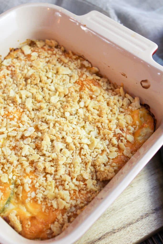 squash in casserole dish