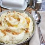 mashed potatoes in a bowl