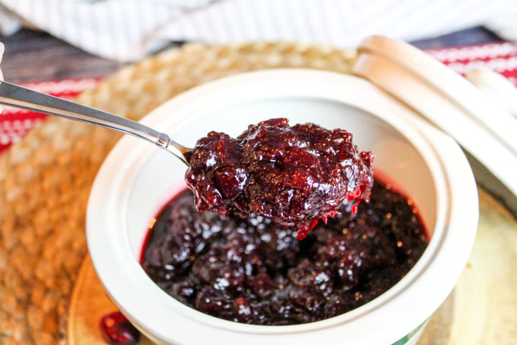 cranberry sauce in a bowl