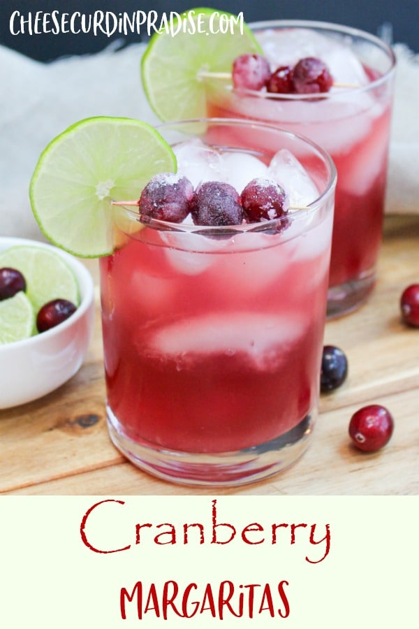 cranberry margarita in a glass