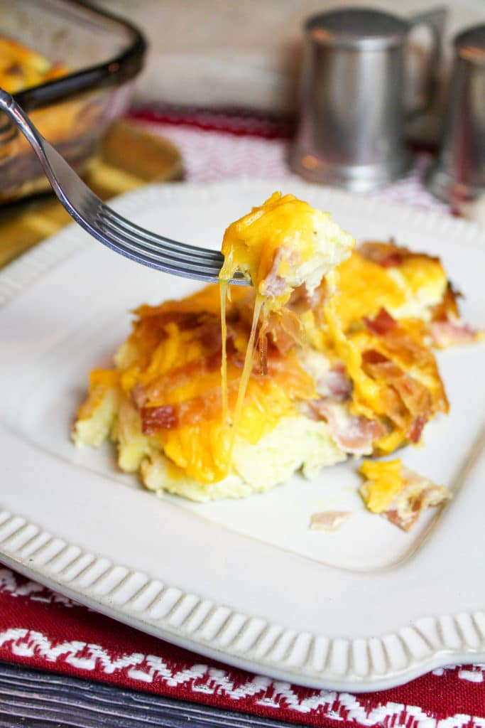 breakfast casserole on a plate