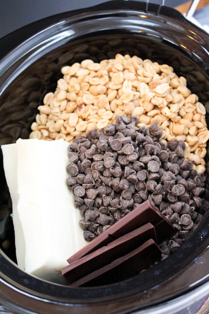 candy ingredients in the slow cooker
