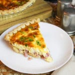Ham and Cheese Quiche on a plate