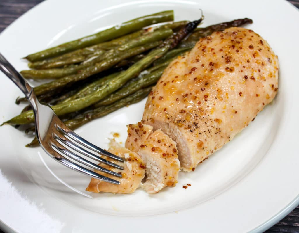 chicken sliced on a plate