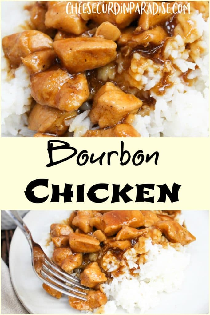 pintrest image with chicken and title text