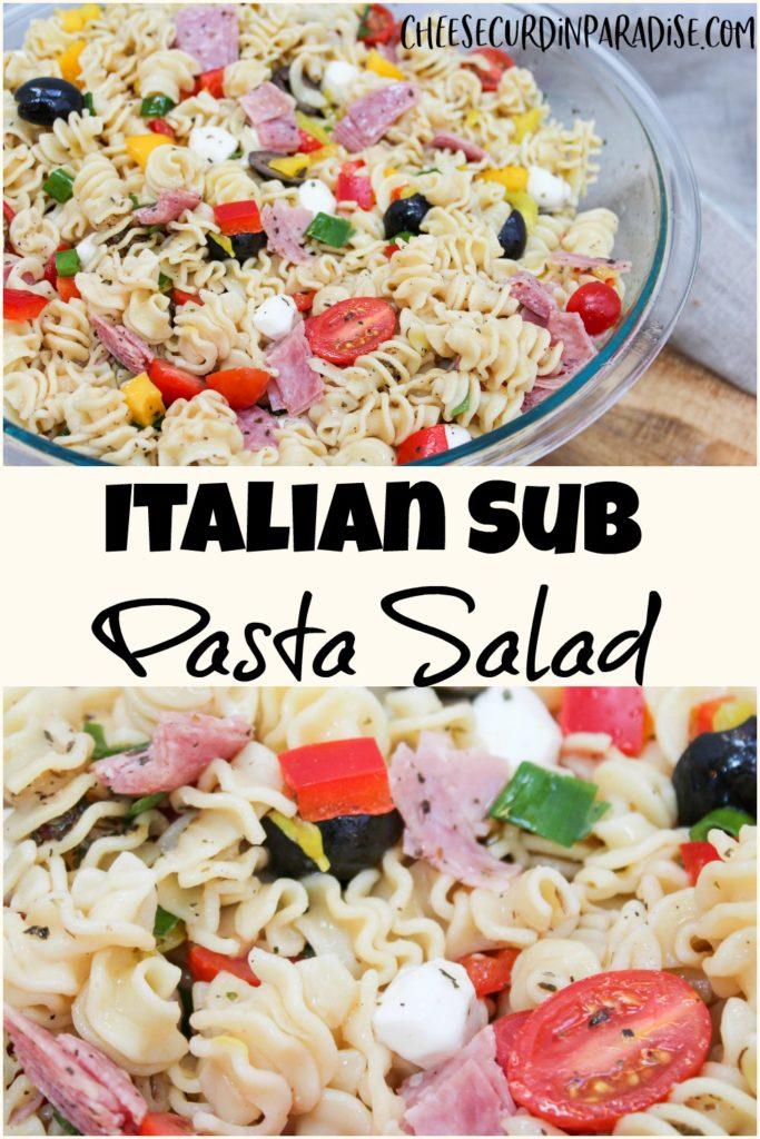 pasta salad collage for pinterest