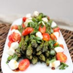 Grilled Asparagus Caprese Salad front shot
