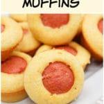 plated corn dog muffin