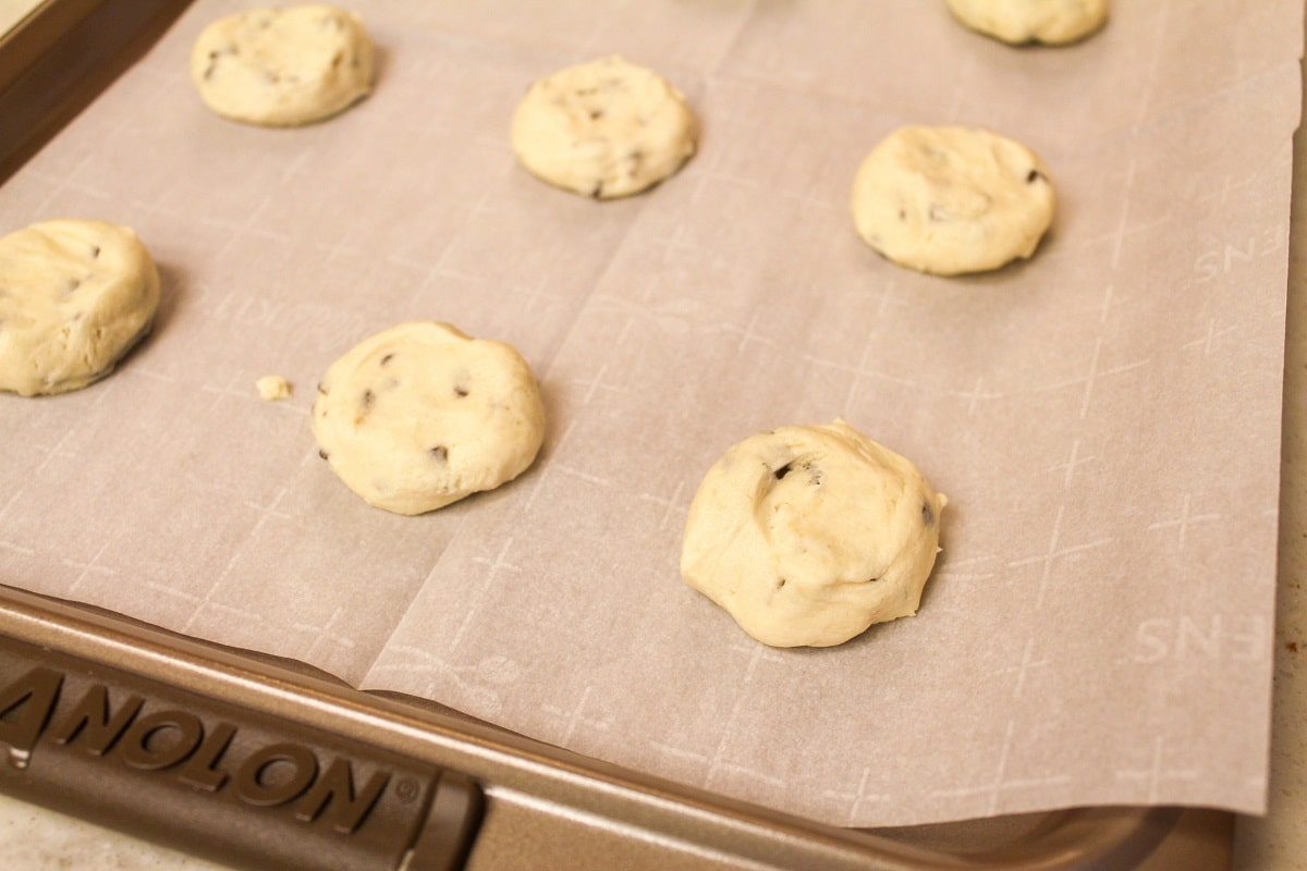 cookies on a sheet
