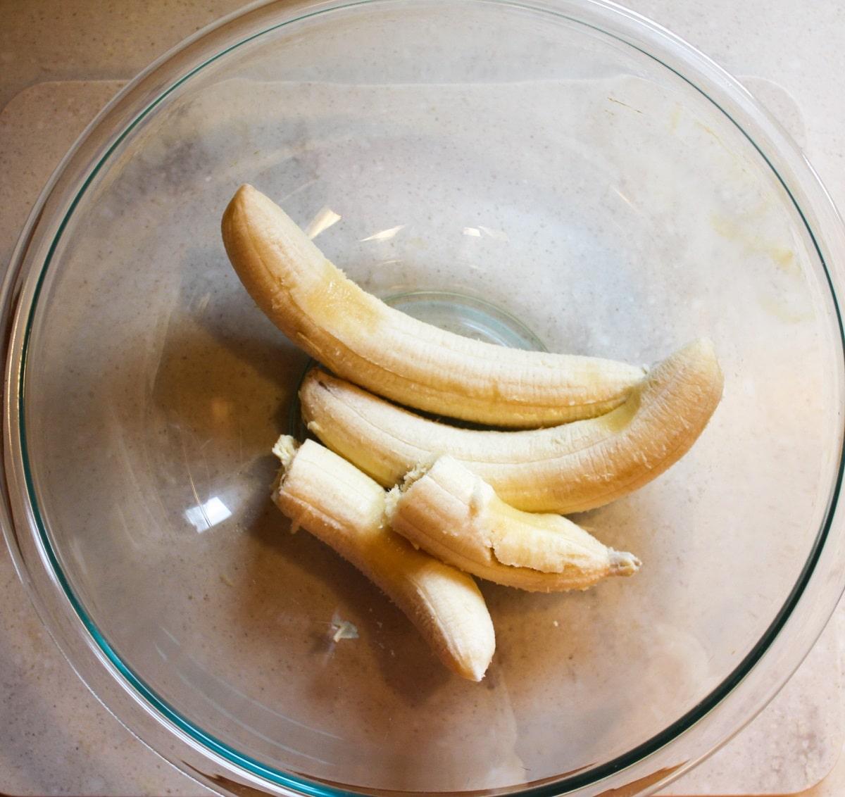banana bread baked oatmeal preparation photo